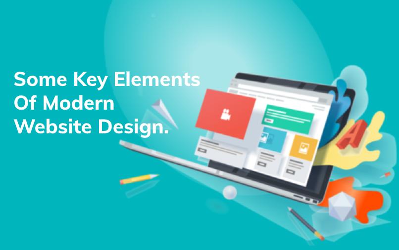 Some key elements of modern website design.